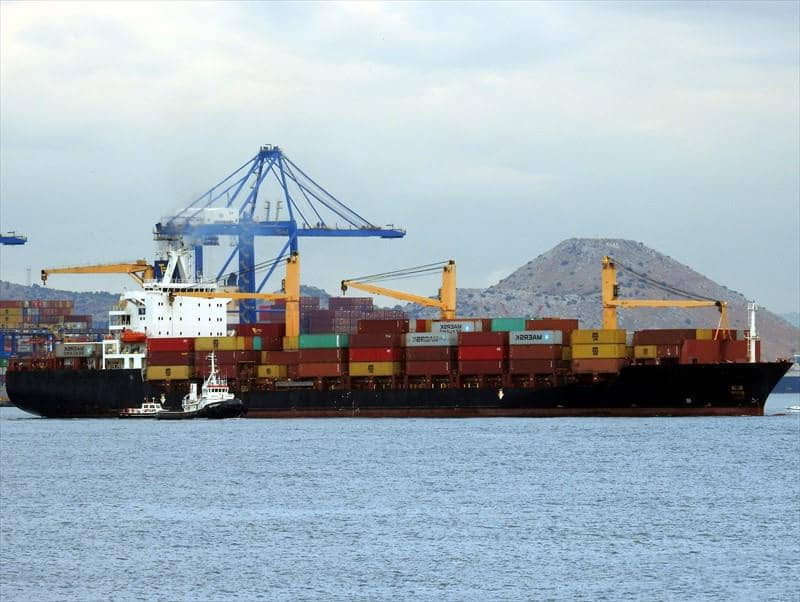 Container ship 2000 dwt 32308 photo