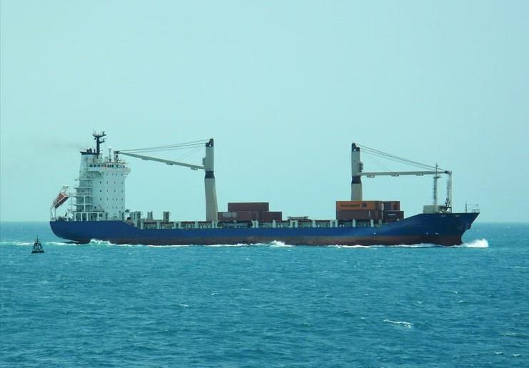 Container ship 2010 dwt 12529 photo