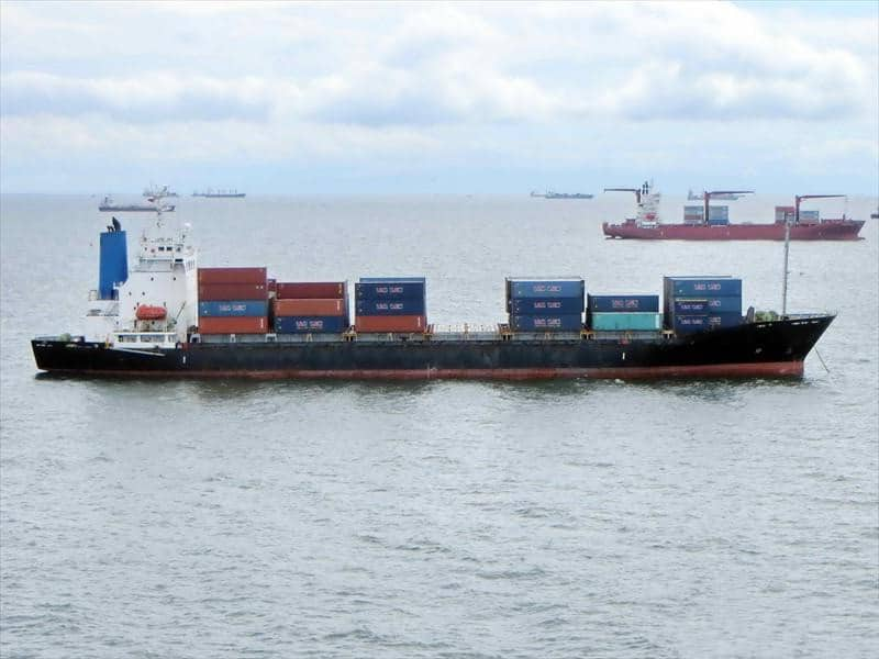 Container ship 1996 dwt 15628