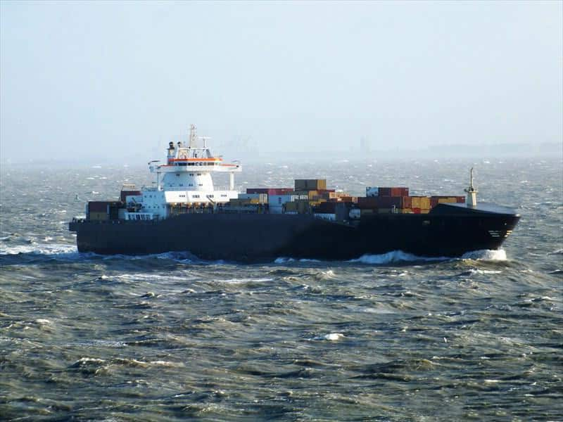 Container ship 2000 dwt 14150 photo