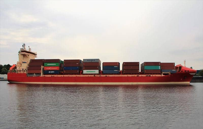 Container ship 2006 dwt 18530