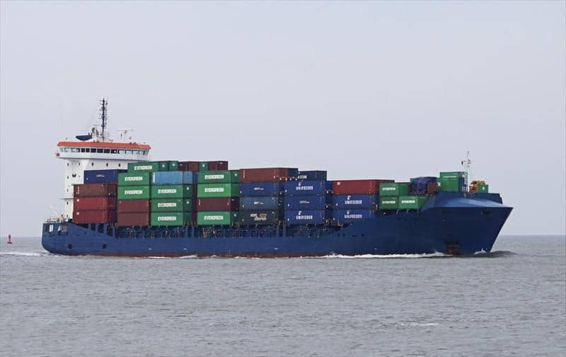 Container ship 2011 dwt 13000 photo